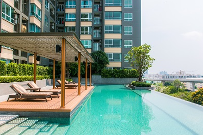 Bangkok apartment suites swimming pool balcony fitness - Hotel with swimming pool on every balcony ...